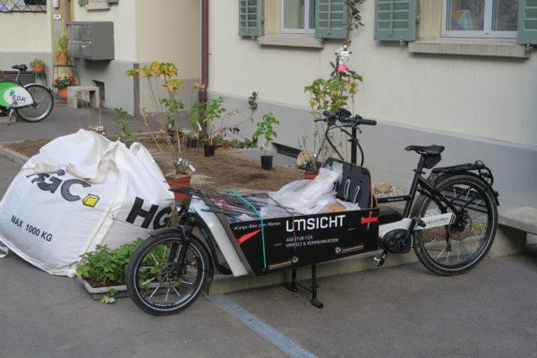 Materiallieferung mit dem eCargo-Bike