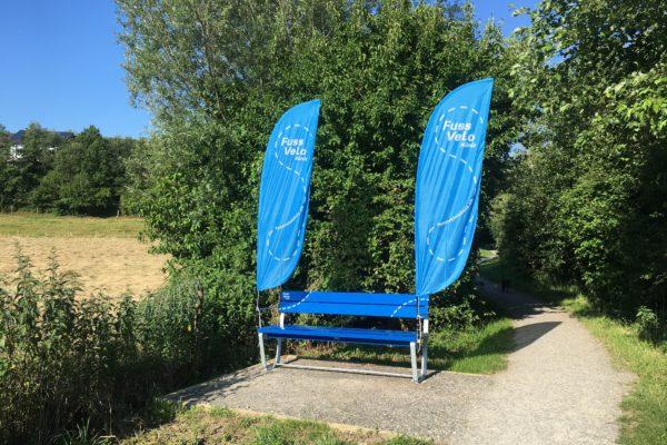 neue Fuss Velo Köniz Sitzbank