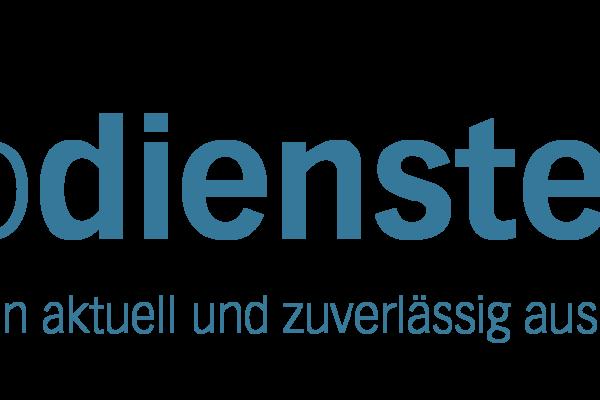 Logo geodienste.ch mit Claim