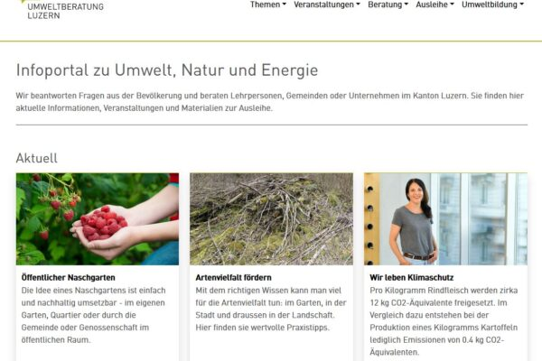 Website Umweltberatung