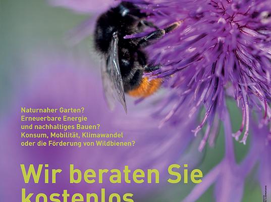 Plakat für Gemeinden: kostenlose Beratung_Umweltberatung Luzern