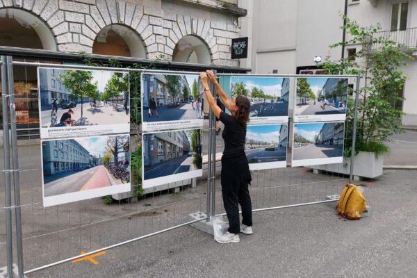 Die neue Bahnhofstrasse: Outdoor-Ausstellung